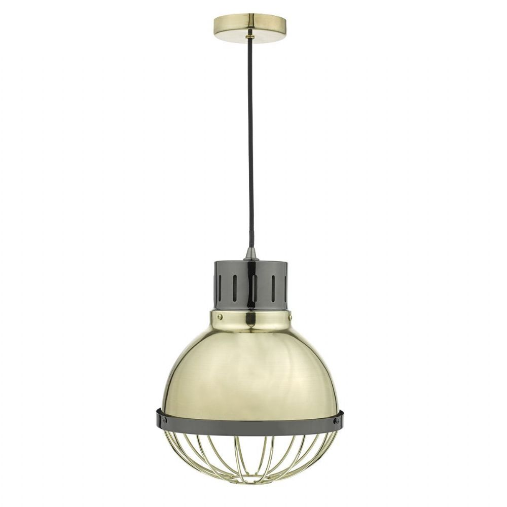 Ethan 1 Light Pendant Gold/Black Nickel